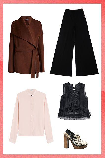 Сочетание брюк и блузок
