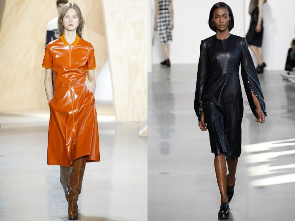 Кожаное-платье-фото-модные-тенденции-осень-зима-2016-2017-2