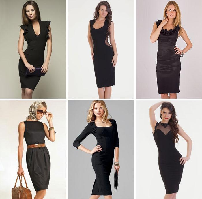 Классные чёрные платья