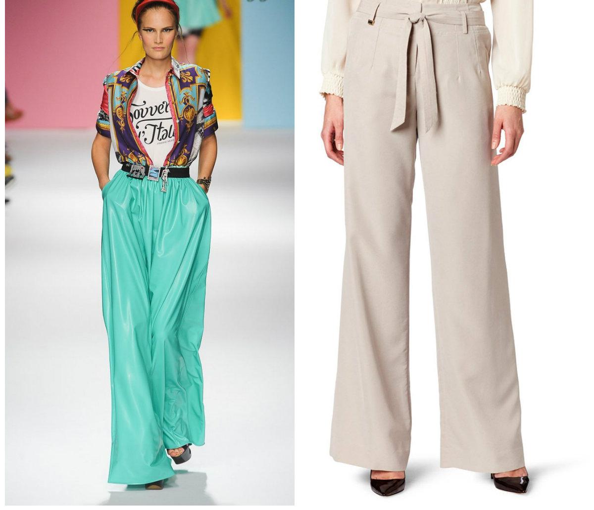 Брюки-женские-2017-года-модные-тенденции-фото-клеш-брюки женские 2017 года