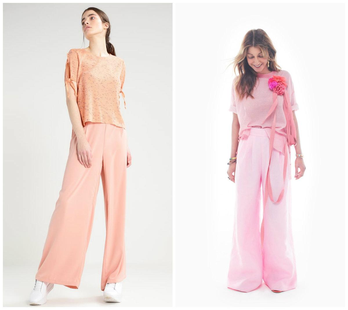 Брюки-женские-2019-года-модные-тенденции-фото-клеш-брюки женские 2019 года
