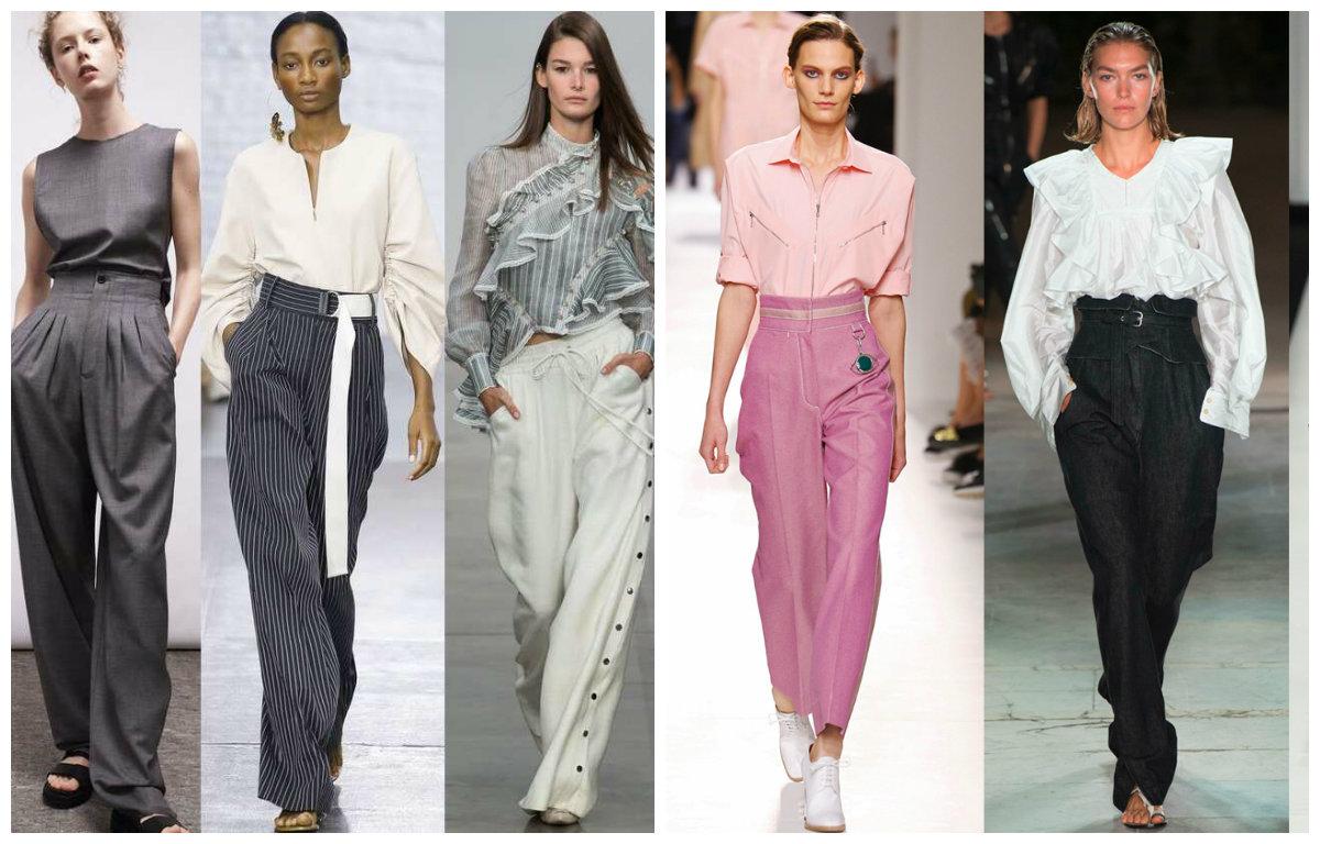 Брюки – клеш-Брюки-женские-2019-года-модные-тенденции-фото-брюки женские 2019 года