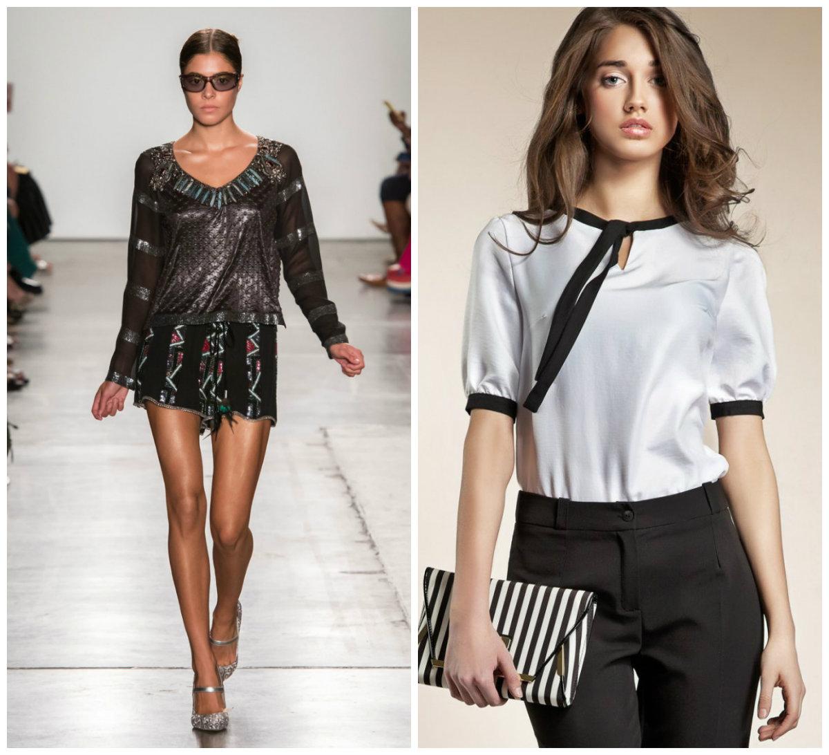 Женские-блузки-2018-романтика-Фото-атлас-и-вышивка-женские блузки 2018, фото