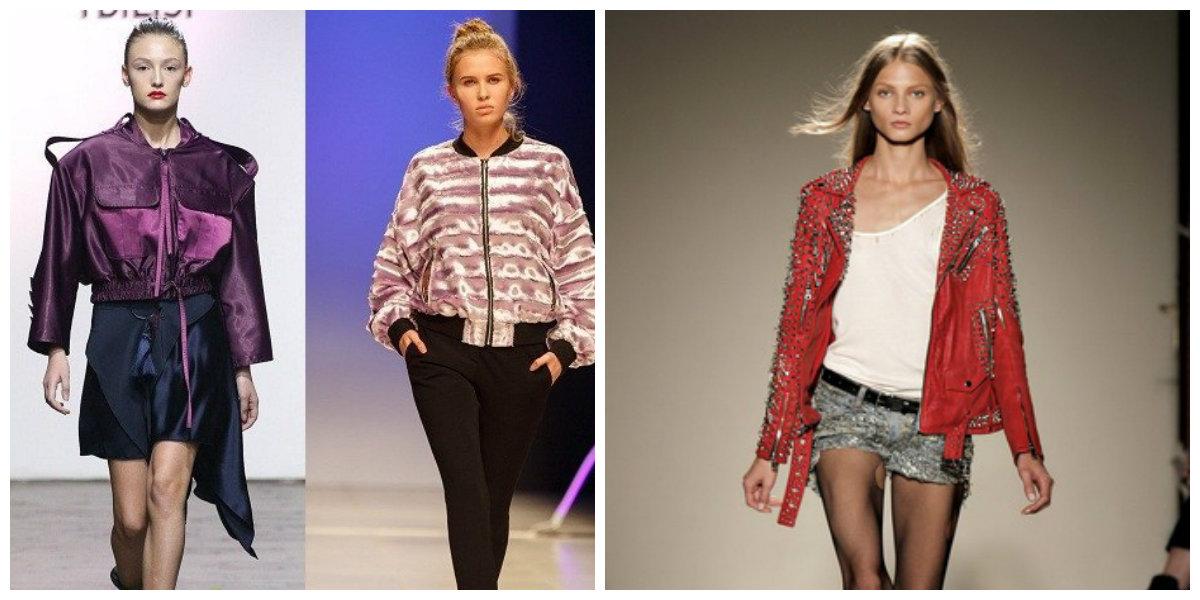 Кожаные-куртки-женские-2018-модные-модели-цветные-Модные женские куртки 2018
