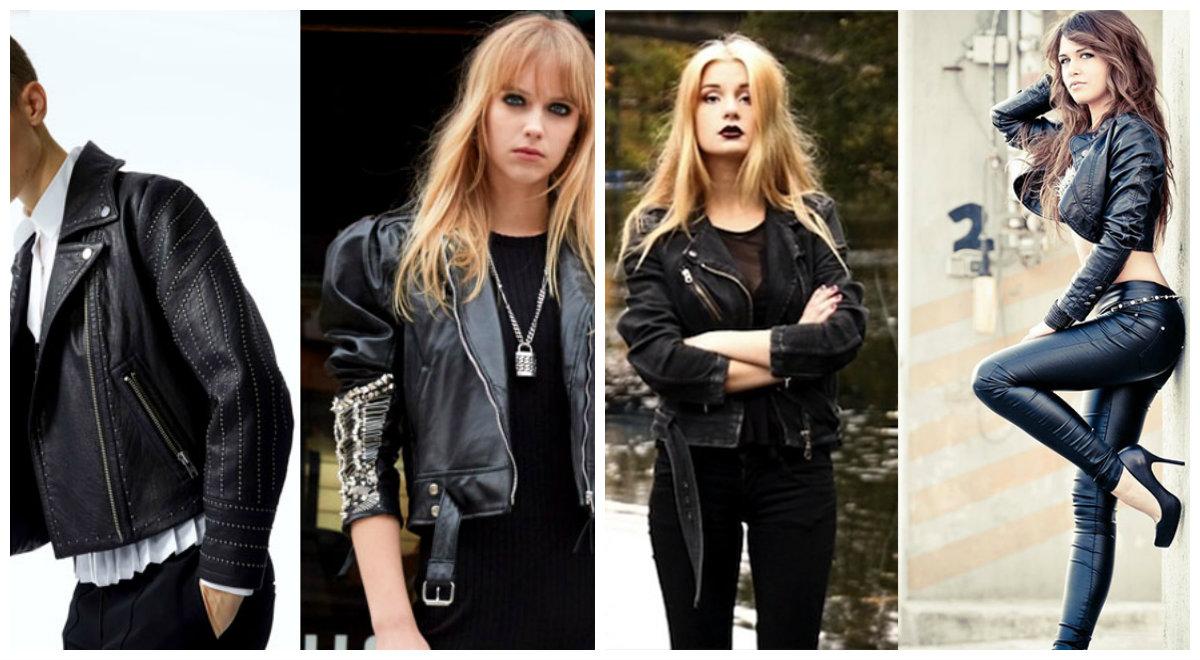Кожаные-куртки-женские-2018-модные-модели-Модные женские куртки 2018-Куртки женские 2018