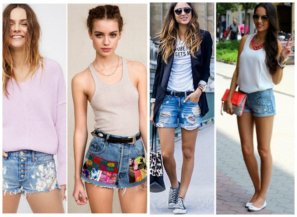 Модные-шорты-2019-женские-фасони-фото-джинсы-шорты женские 2019 фото