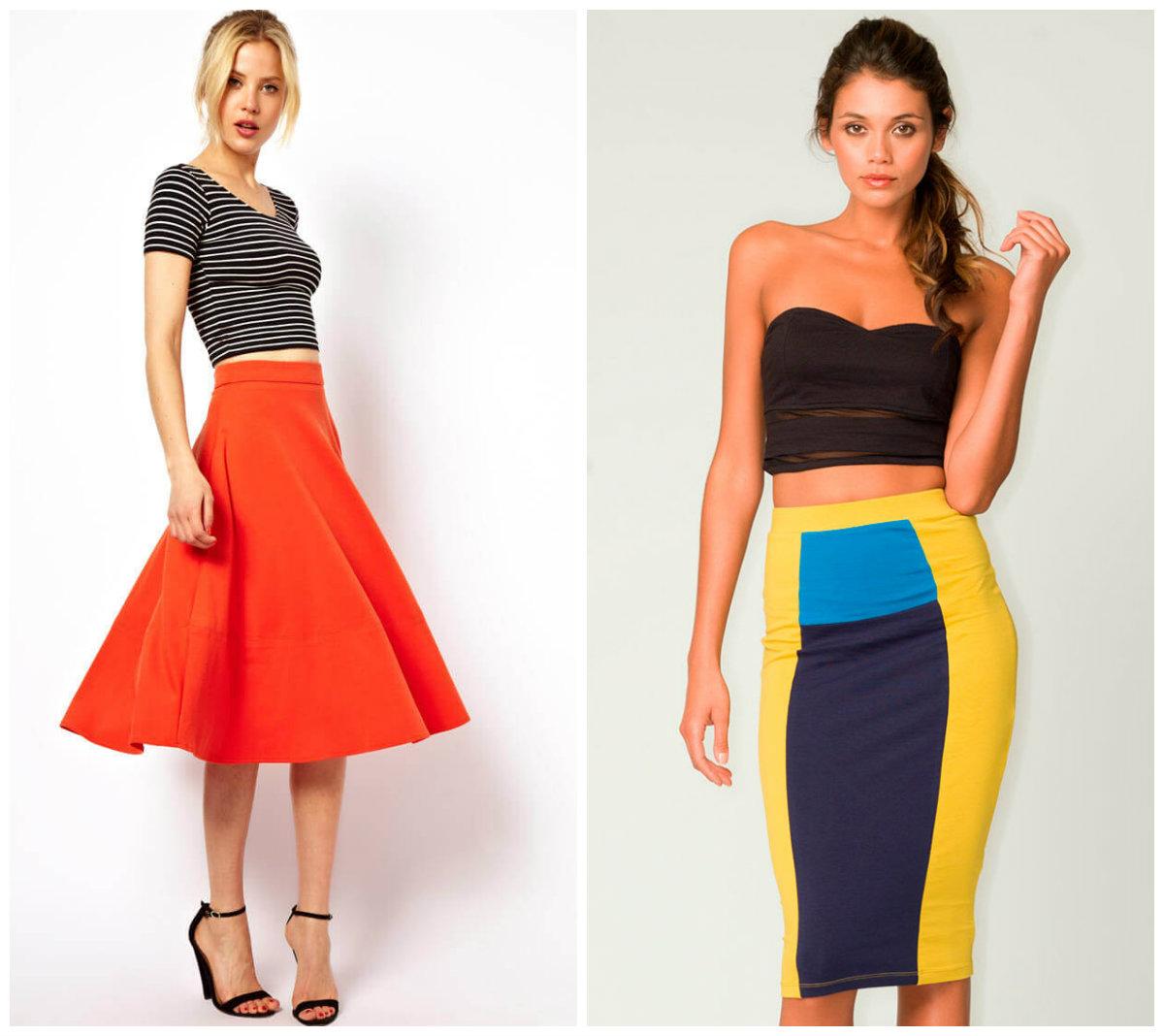 Крой модной юбки