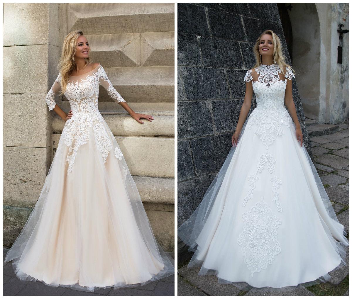 Какие свадебные платья в моде в 2017