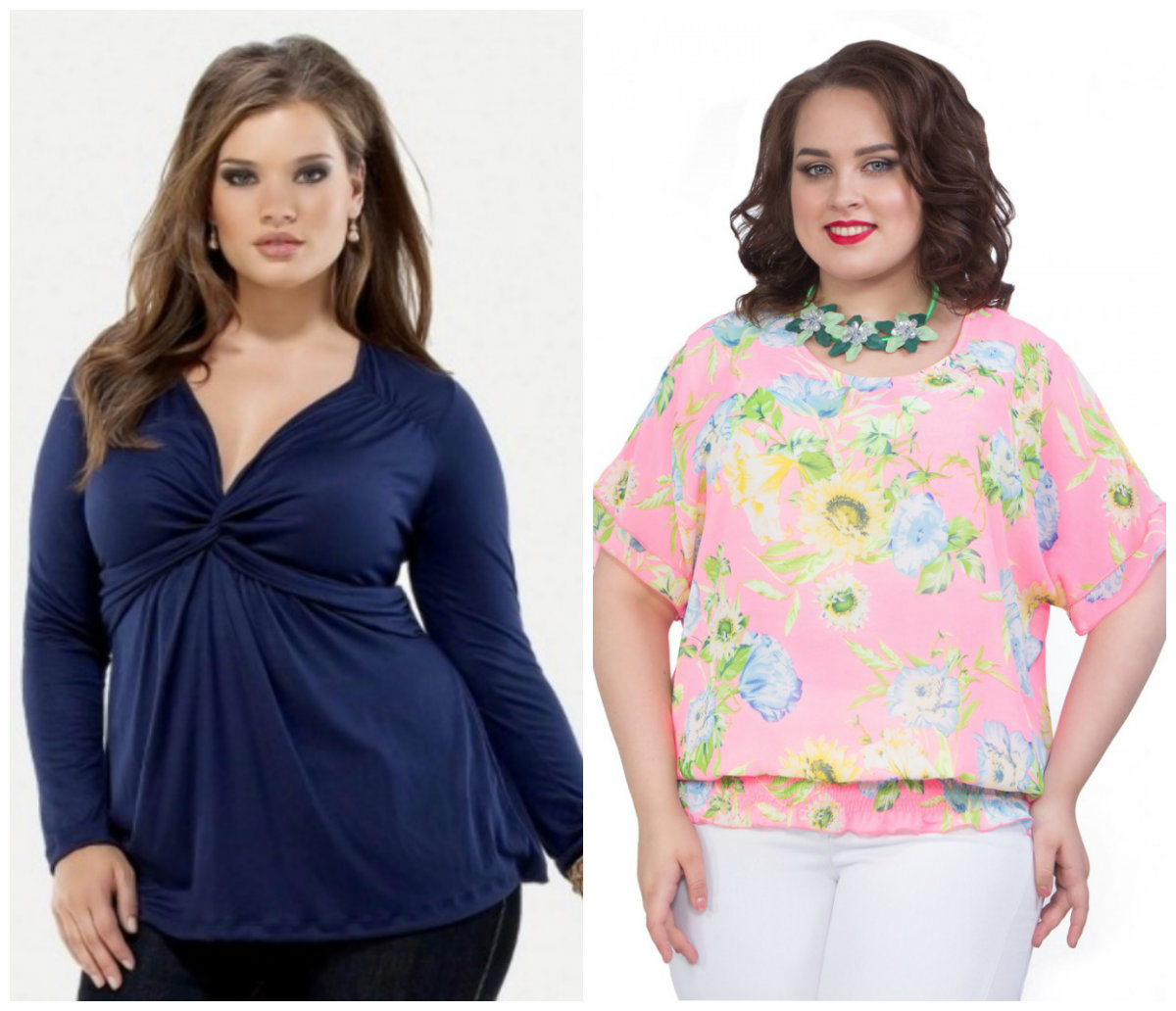 Женская-одежда-больших-размеров-2018-Блузки-Брюки-Принты-Длина-фото-Одежда для полных женщин 2018