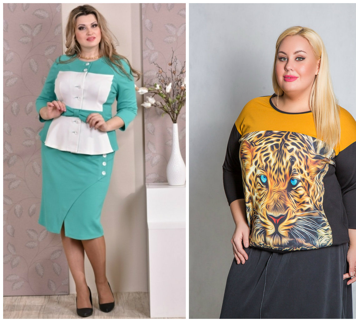 Женская-одежда-больших-размеров-2018-Одежда для полных 2018