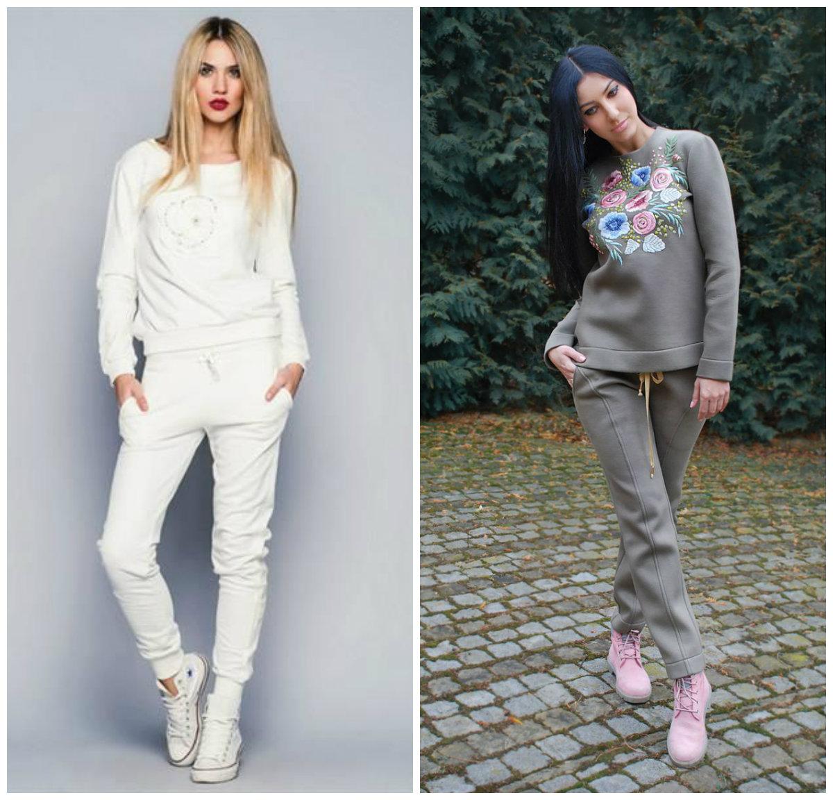 Женские-спортивные-костюмы-2019-фото-Модели-спортивный костюм женский модный 2019