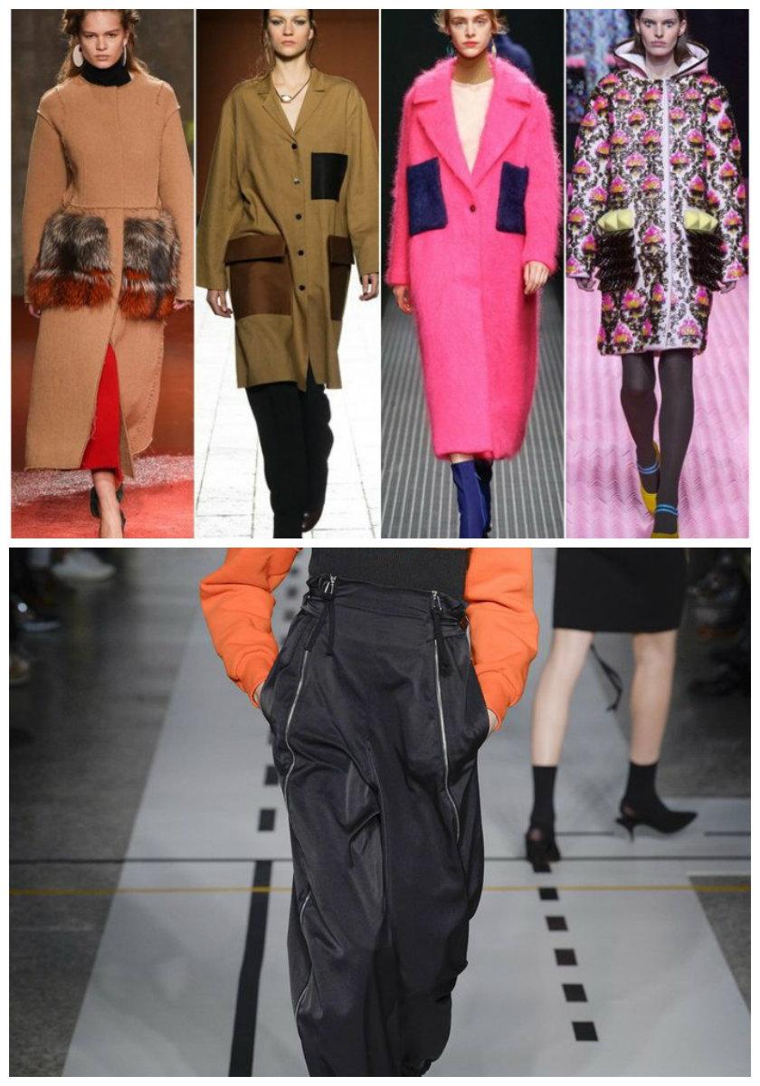 Модная-женская-одежда-2018-фото-Одежда-из-денима-шуба-яркие-колготки-брюки-6