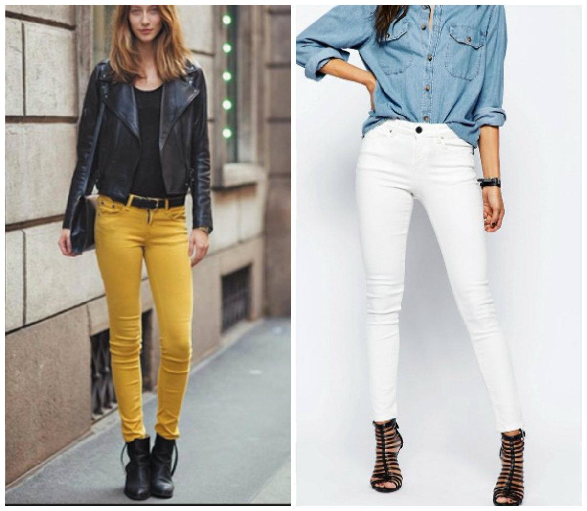 Модные-джинсы-2019-женские-Крой-фото-Длина-Крой-Декор-Цвет-джинсы 2019 женские