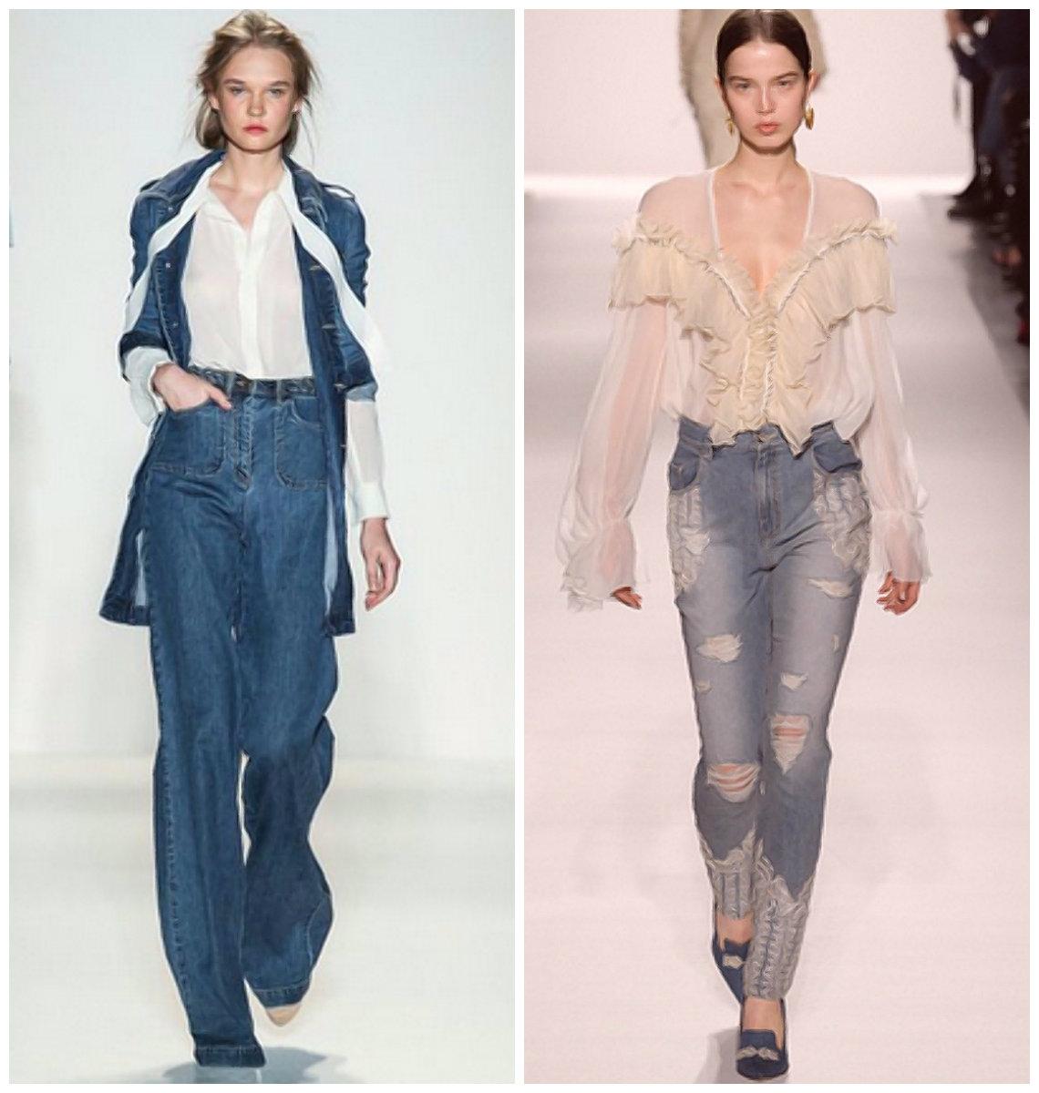 Модные-джинсы-2019-женские-Крой-фото-Длина-Крой-Декор-Цвет-джинсы 2019 женские- джинсы 2019
