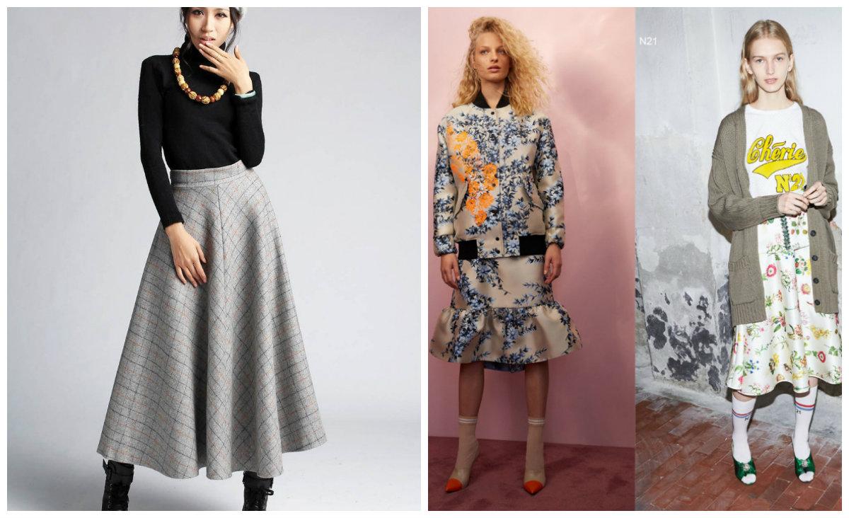 Модные-юбки-2018-фото-юбки-деним-плиссе-Трапецевидный-силуэт-Флористический-принт-Кожаные-юбки-2018-года-модные-юбки 2018 года модные фото