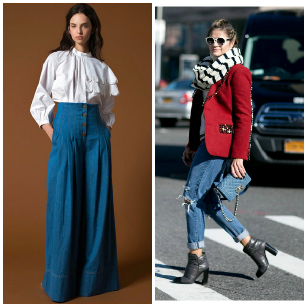 Тенденции-женской-моды-2019-года-фото-одежда-из-денима-деловой-стиль-авангард-Тенденции женской моды 2019