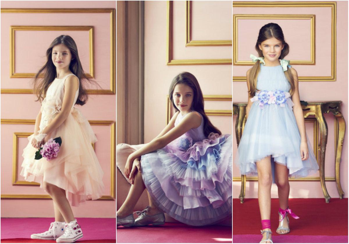 Детские выпускные платья 2019: наряды пастельных цветов