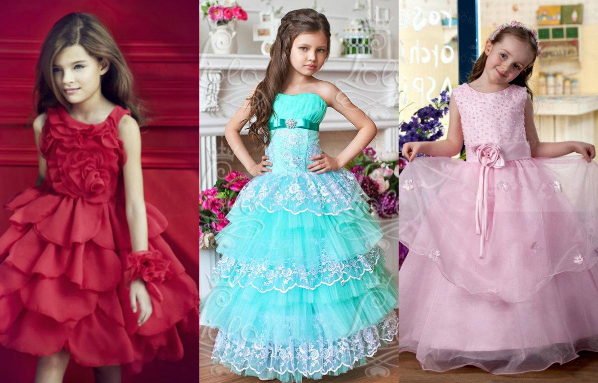 Детские выпускные платья 2019_многослойные платья