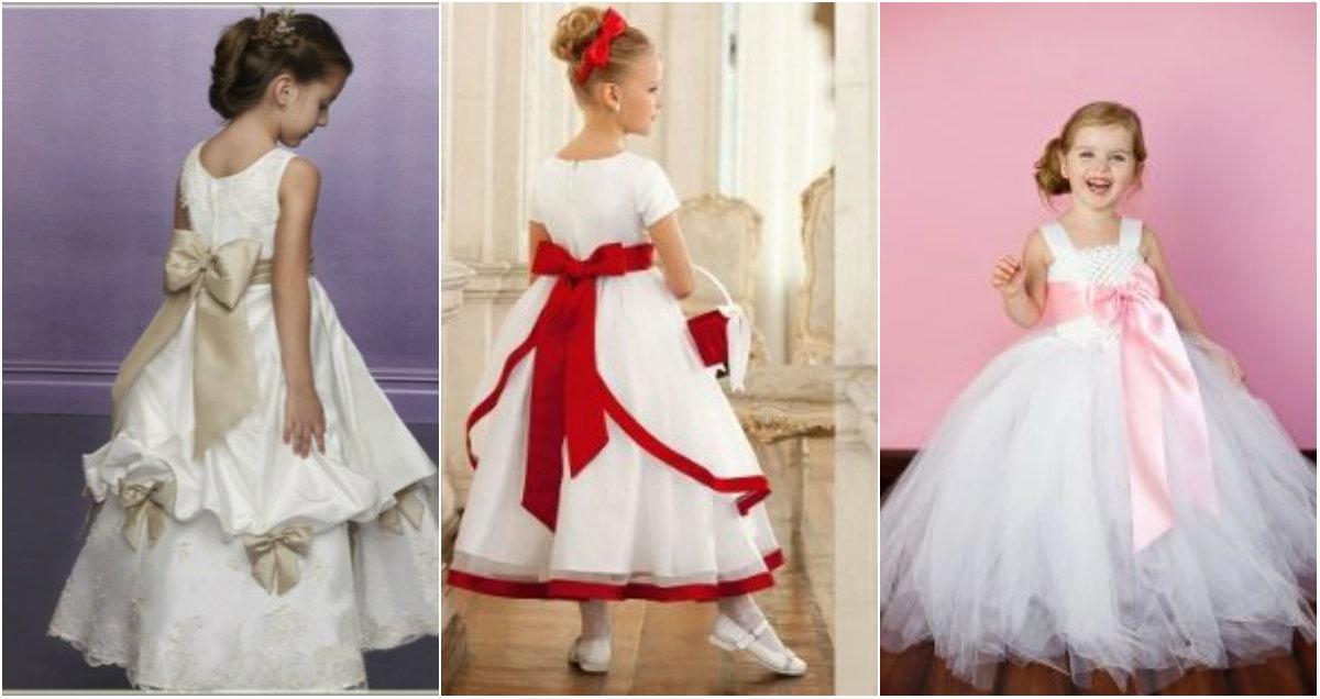 Детские выпускные платья 2019: белые платья