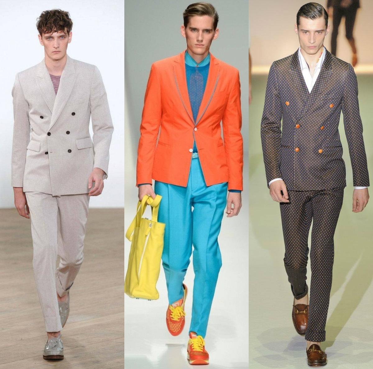 Мужские костюмы 2018: яркие модели