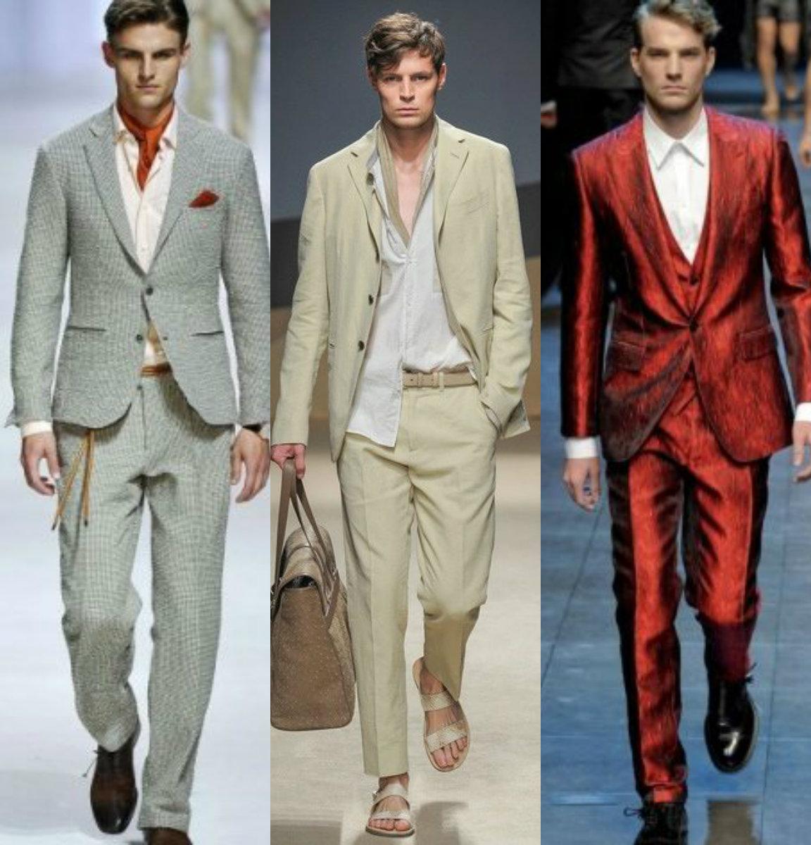 Мужские костюмы 2018: разные ткани