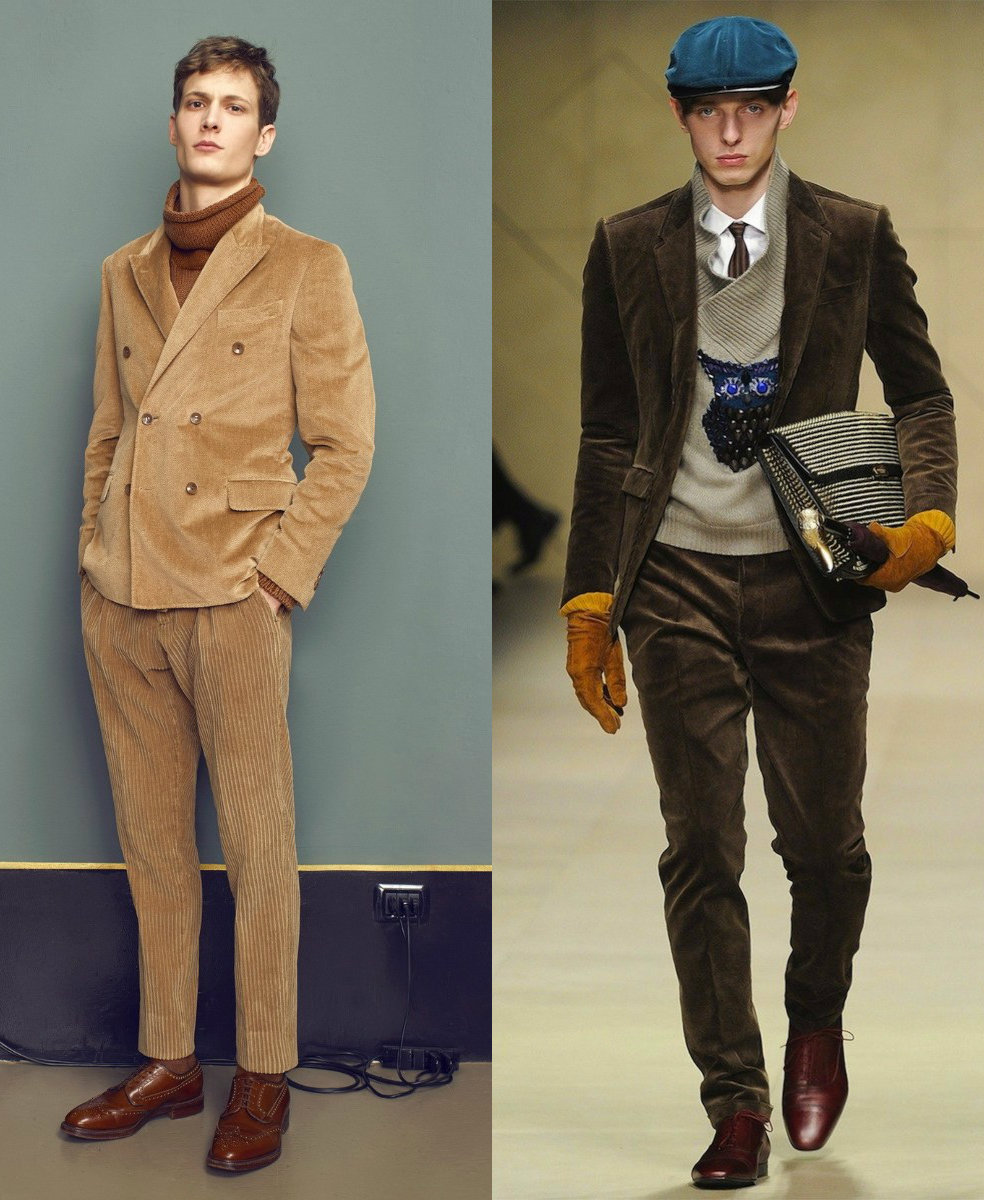 Мужские костюмы 2018: модели из бархата