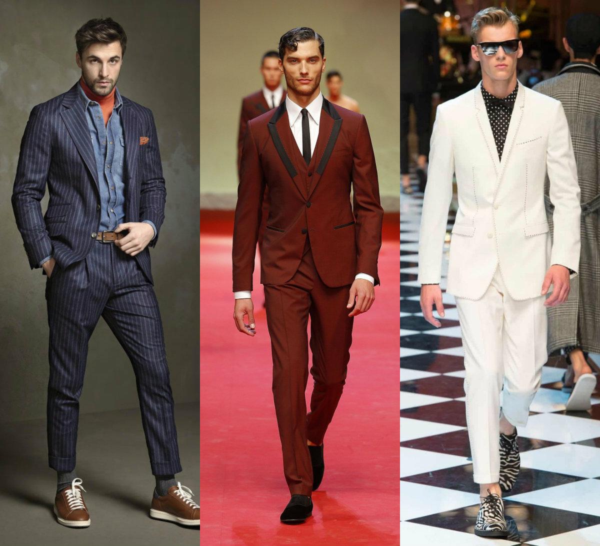 Мужские костюмы 2018: модели для молодых мужчин