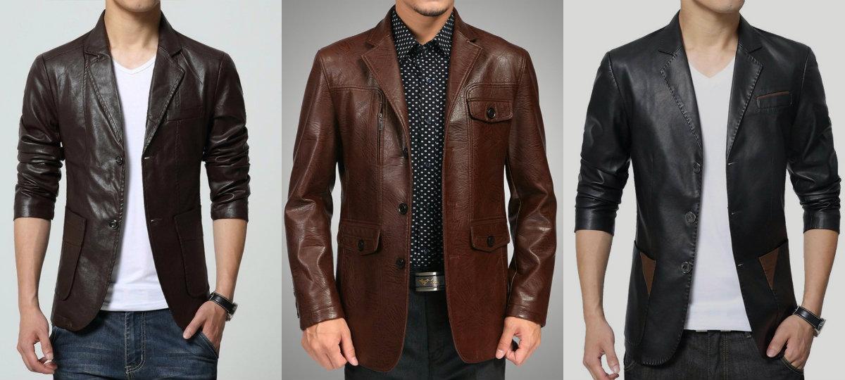 Мужские пиджаки 2018: кожаные модели