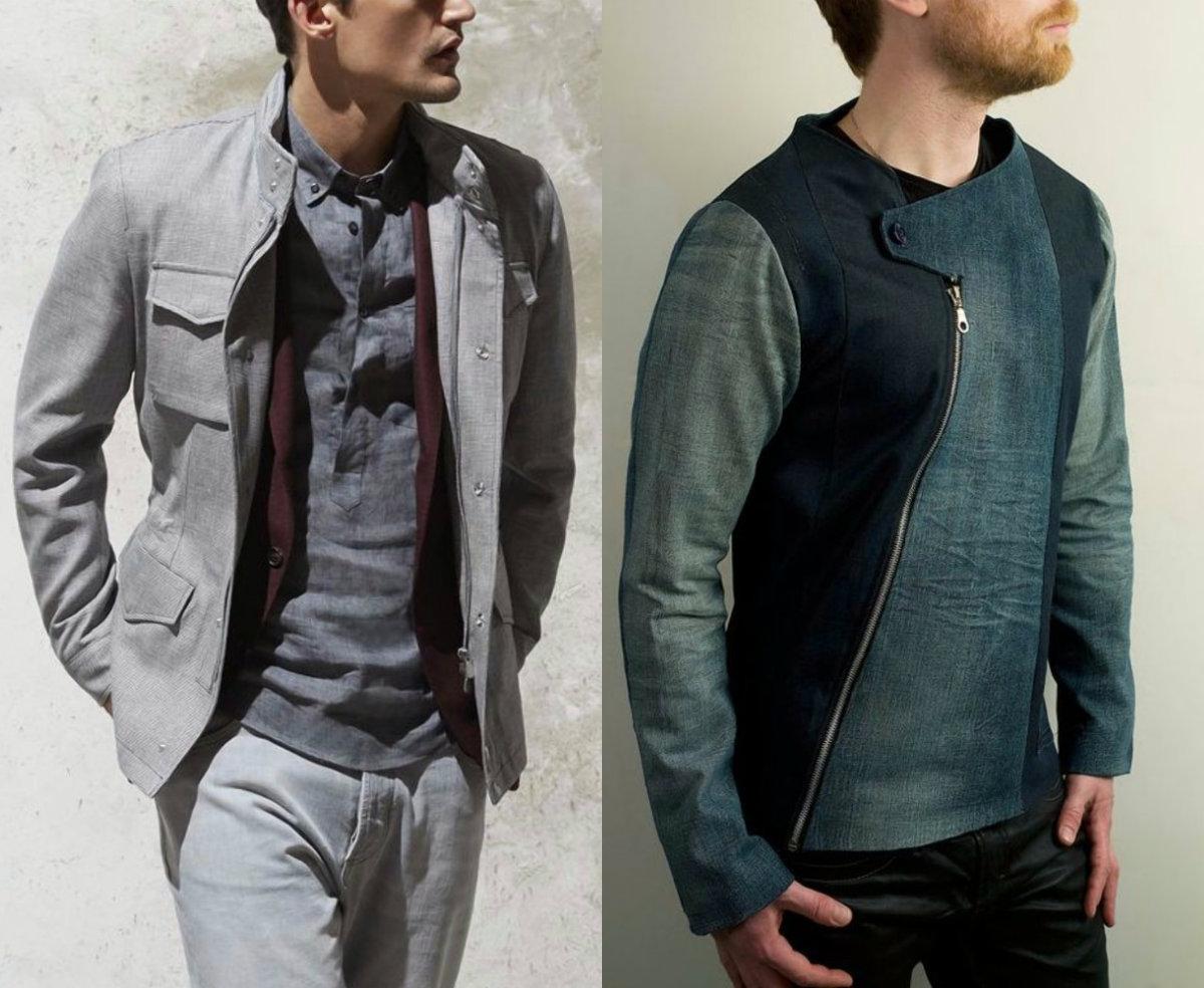 Мужские пиджаки 2018: необычный крой