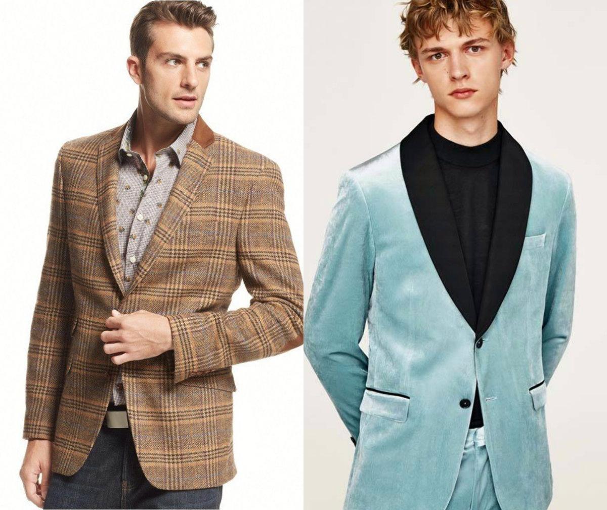 Мужские пиджаки 2018: необычные модели