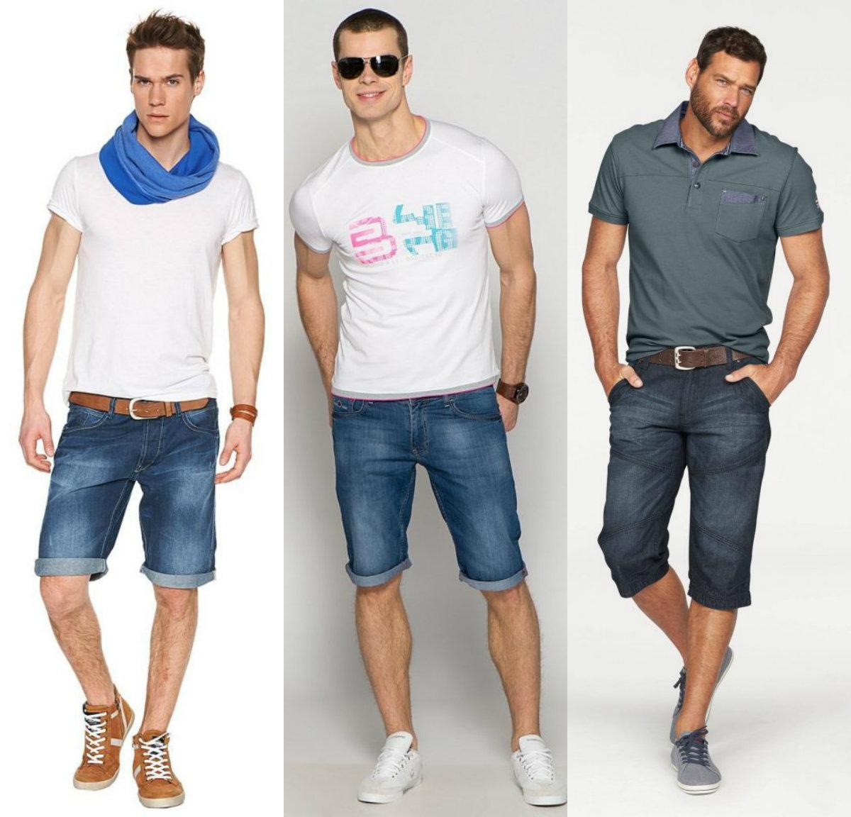 Мужские шорты 2019: модели из денима