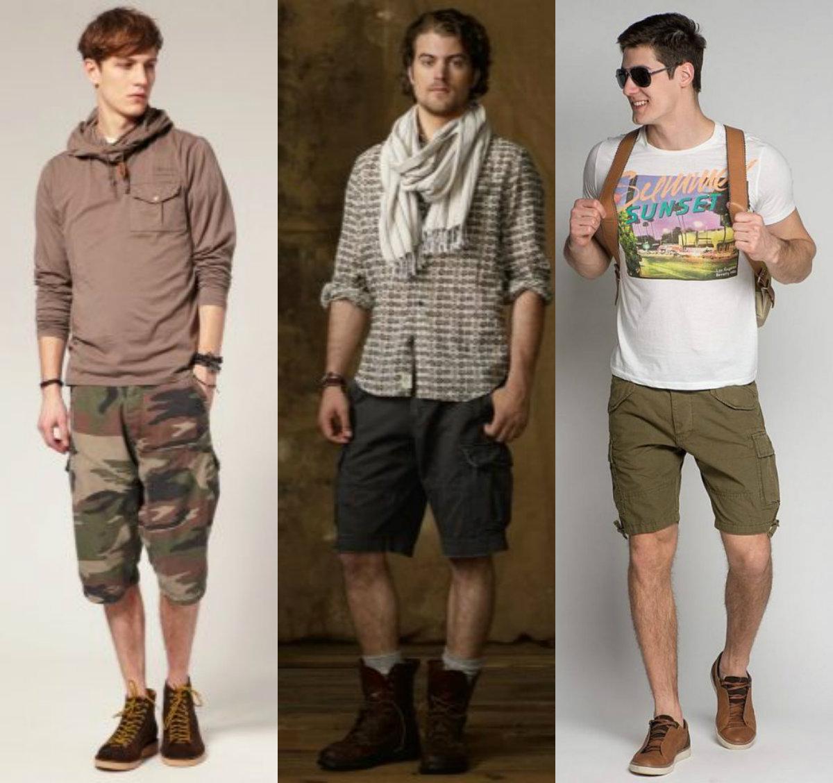 Мужские шорты 2019: варианты милитари