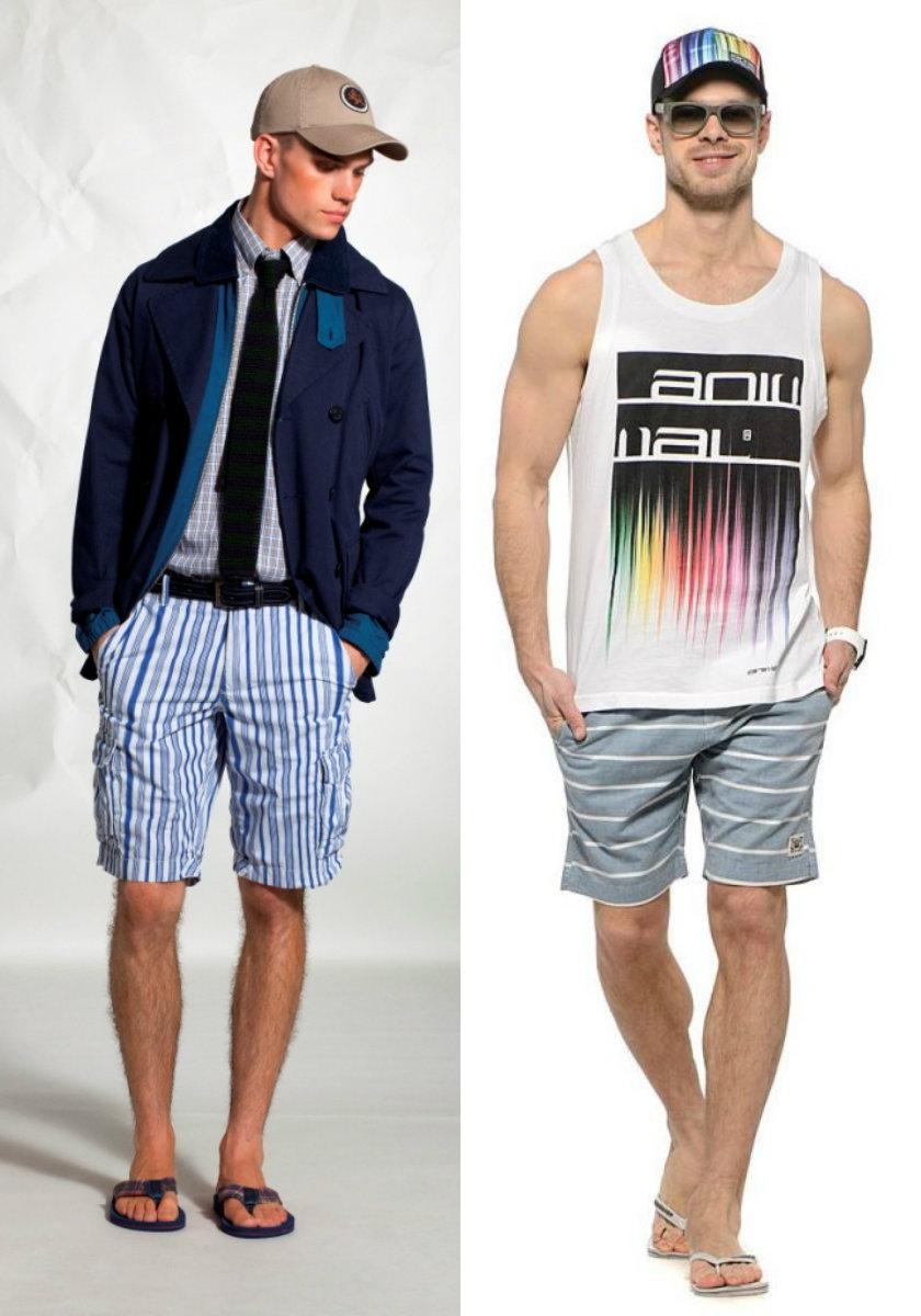 Мужские шорты 2019: полосатые шорты для мужчин