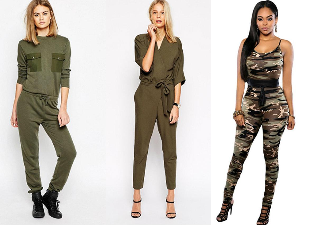 Стиль милитари 2019_брюки для девушек