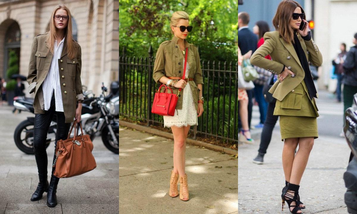 Стиль милитари 2019: модные уличные луки