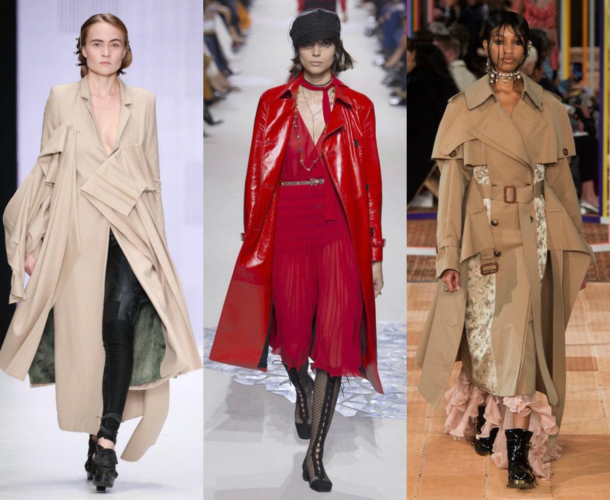женская мода 2018 : плащи