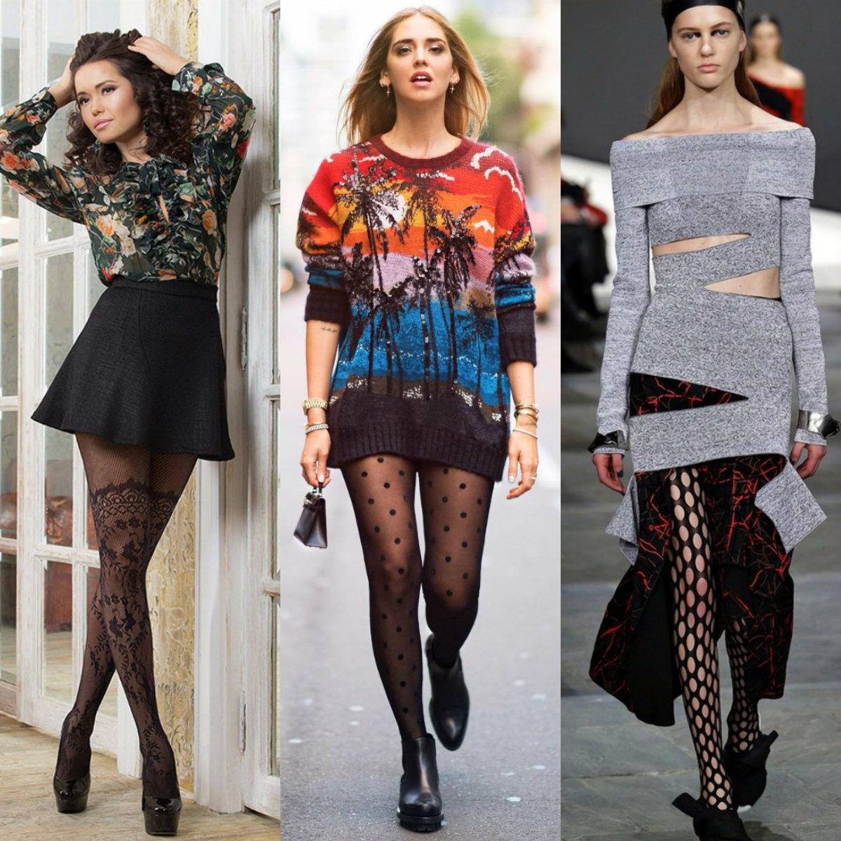женская мода 2018 : чулки и колготы