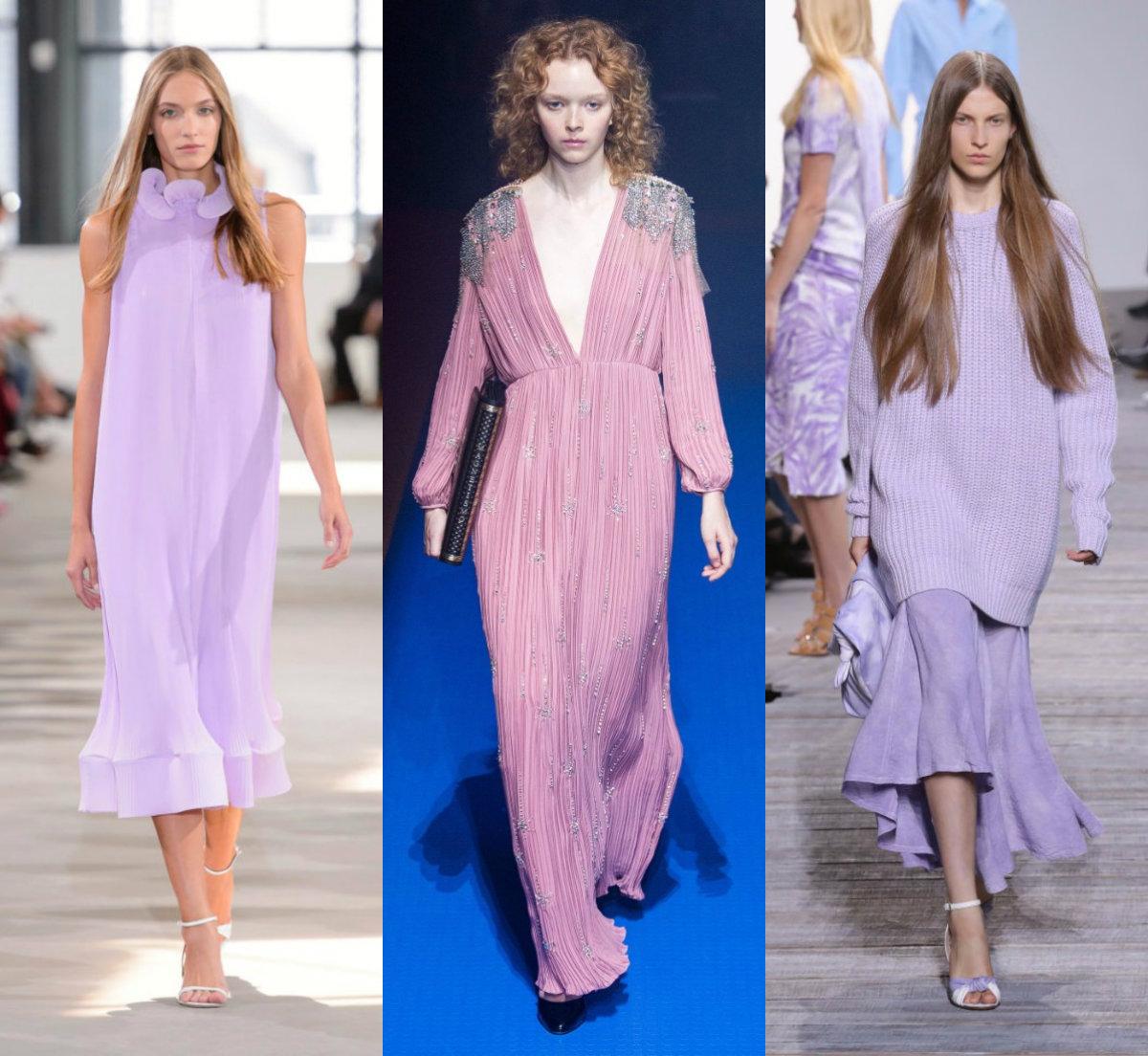 женская мода 2018 : лавандовый и розовый