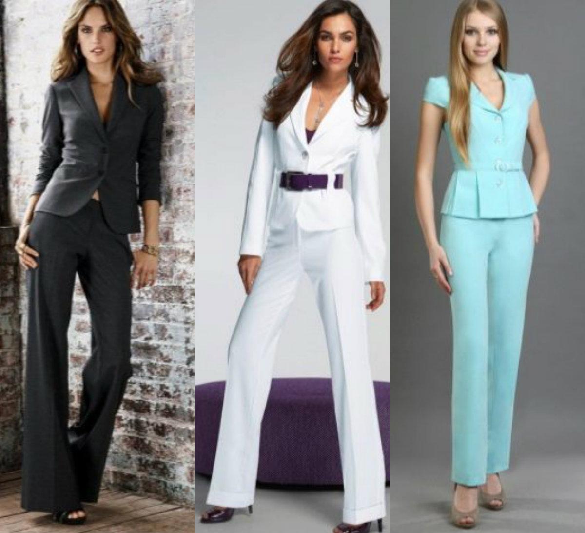 Женские костюмы 2018: брючные модели