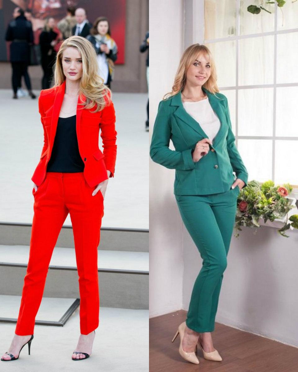 Женские костюмы 2018 : яркие модели
