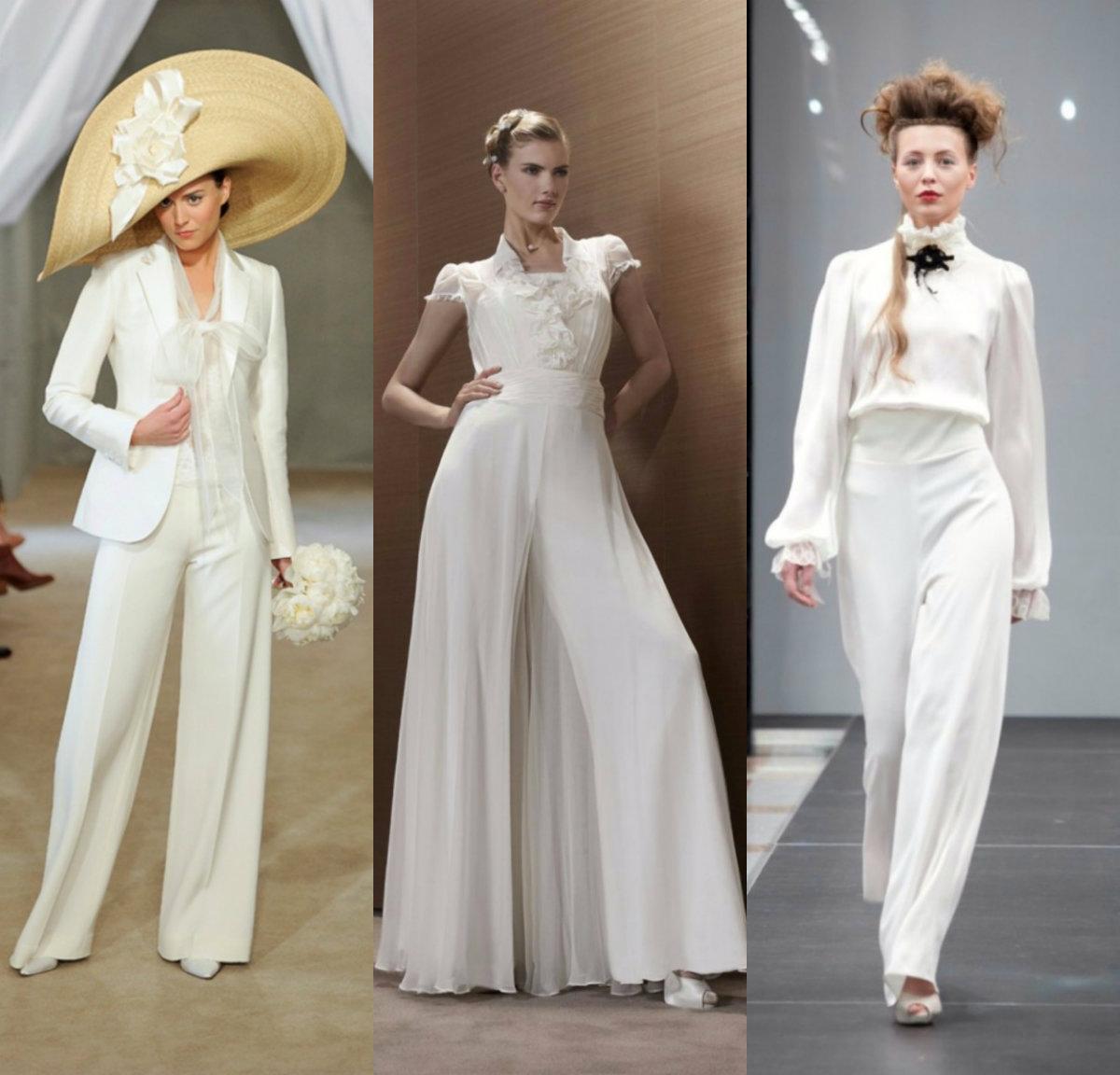 Женские костюмы 2018 : свадебные костюмы