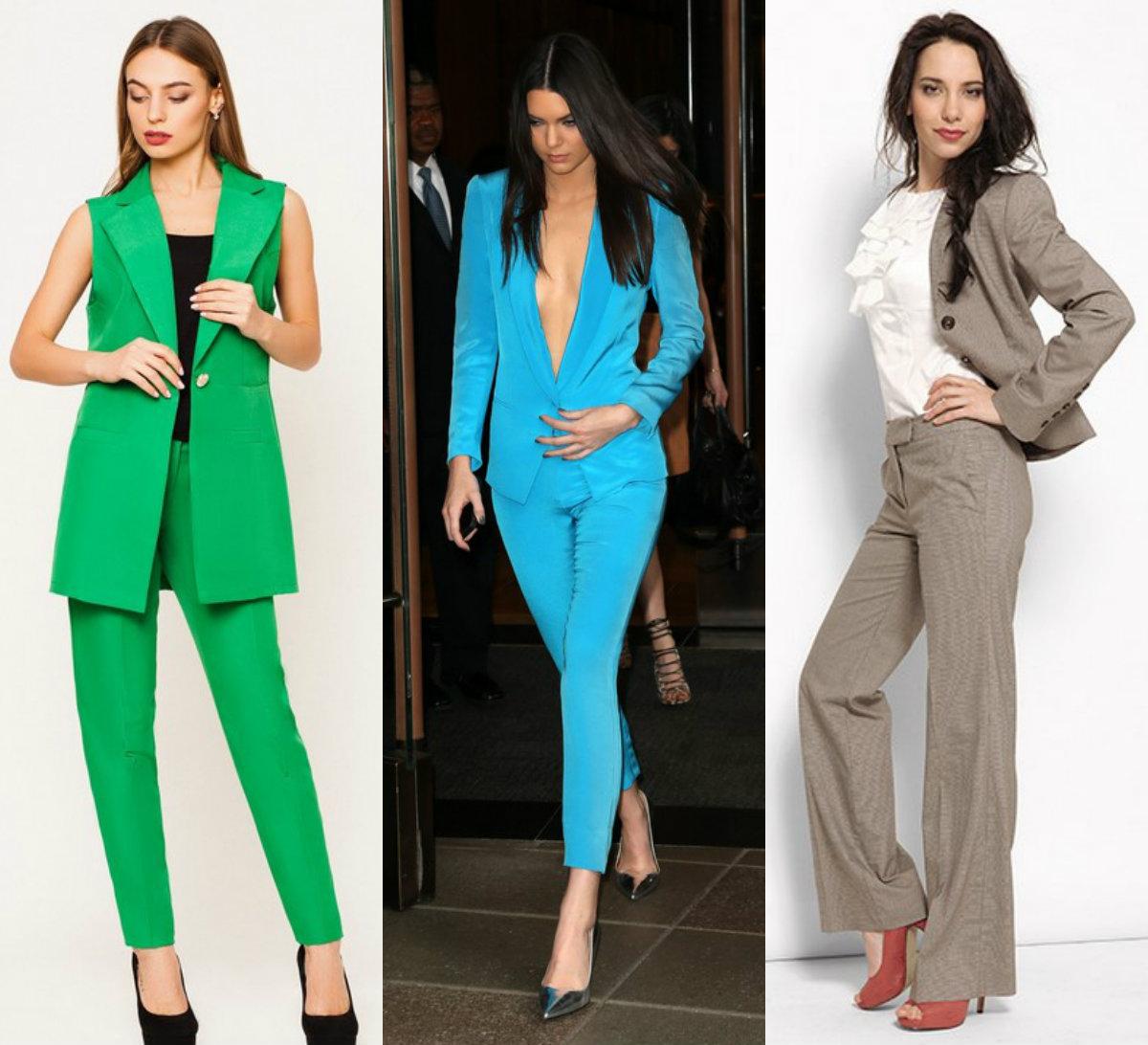 Женские костюмы 2018 : модные варианты с топами и без