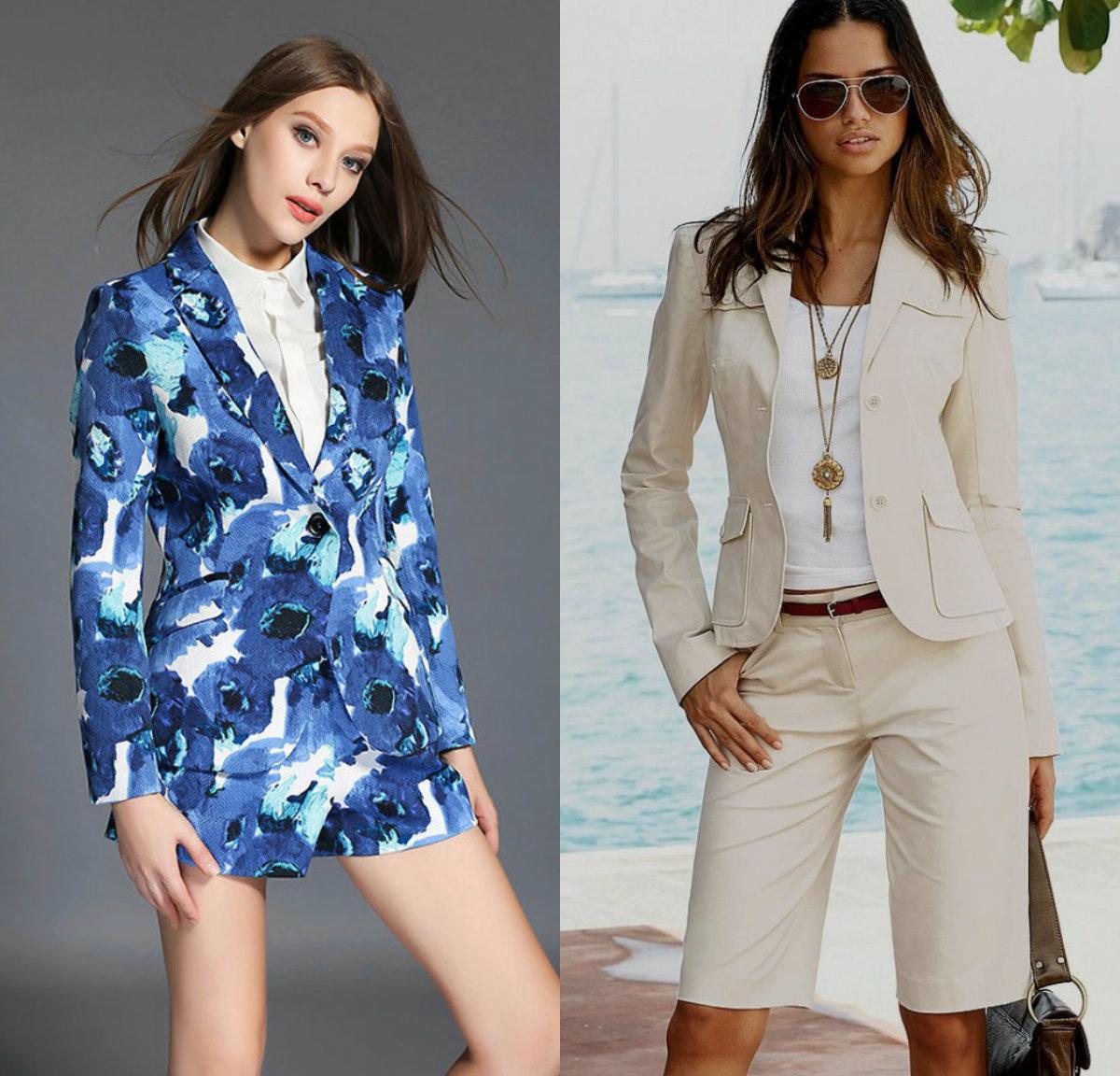 Женские костюмы 2018 : модели шортами