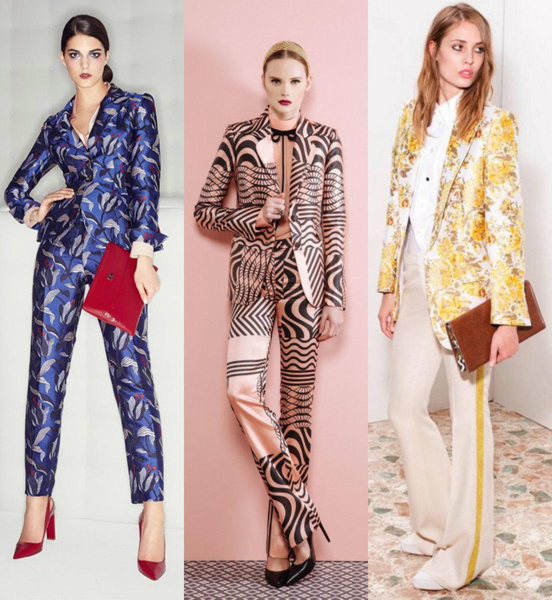 Женские костюмы 2018 : принты