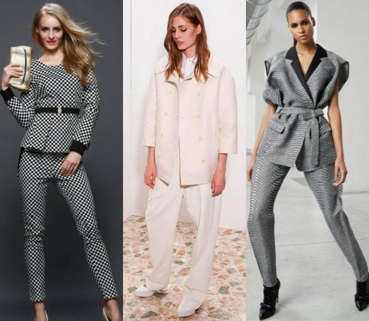 Женские костюмы 2018 : оригинальный крой