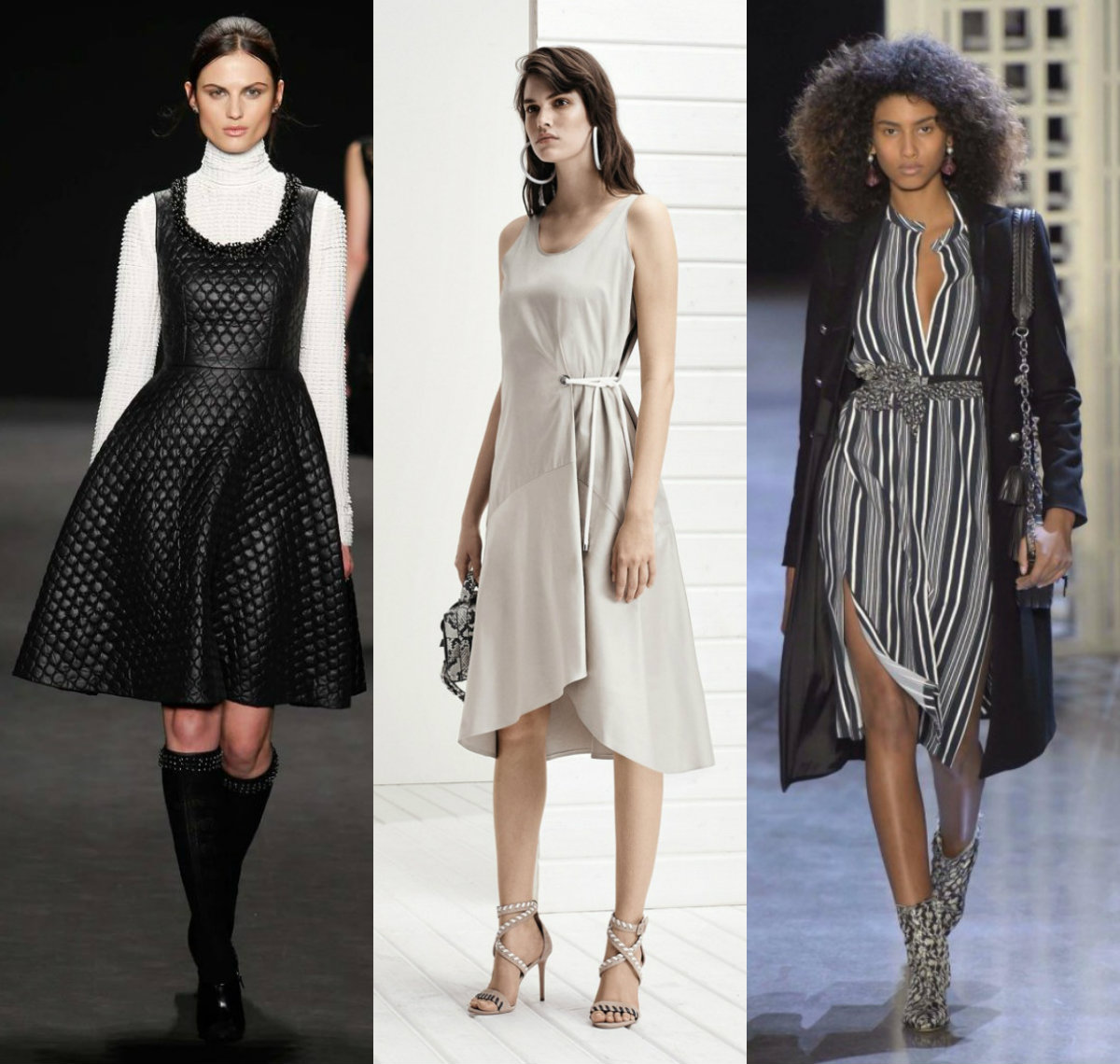 модные тенденции платьев 2018: повседневные наряды