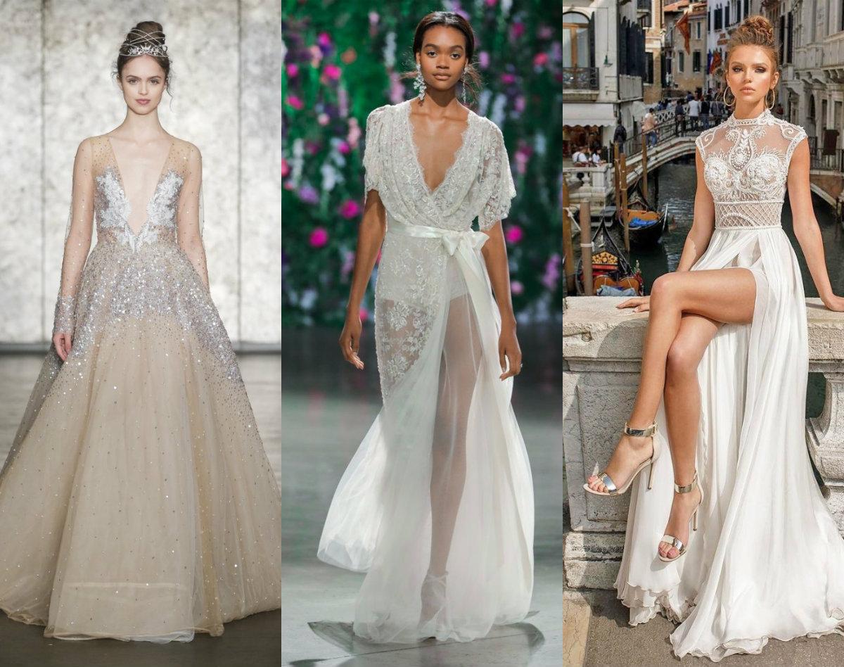 модные тенденции платьев 2019: свадебные модели