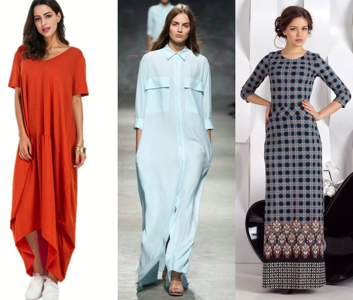модные тенденции платьев 2018: мадели макси