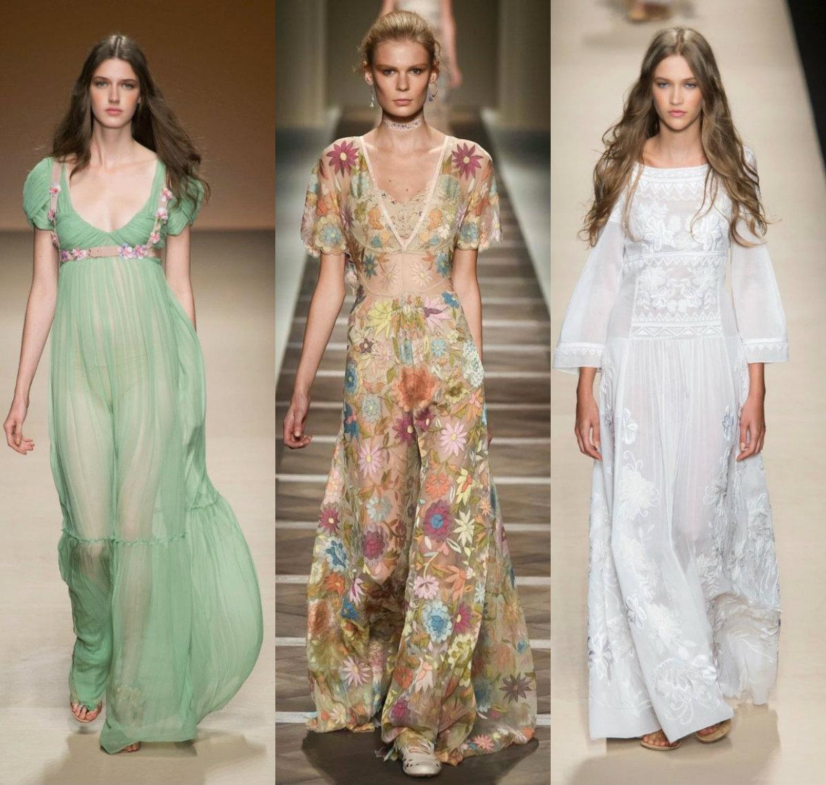 модные тенденции платьев 2018: прозраные варианты