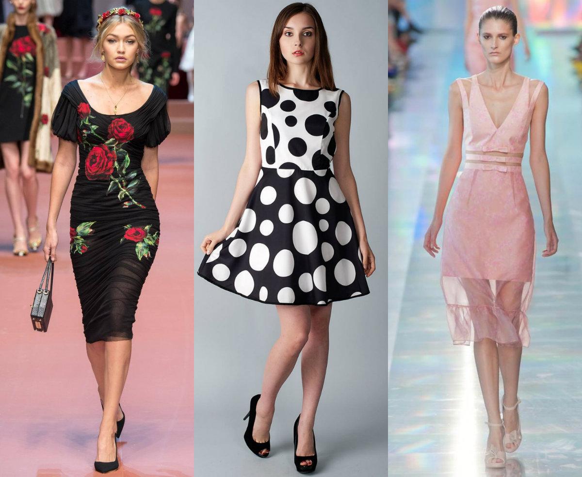 модные тенденции платьев 2018: коктейльные модели